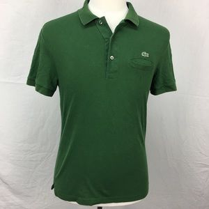 Lacoste Dark Green Regular Fit Polo Shirt Pocket
